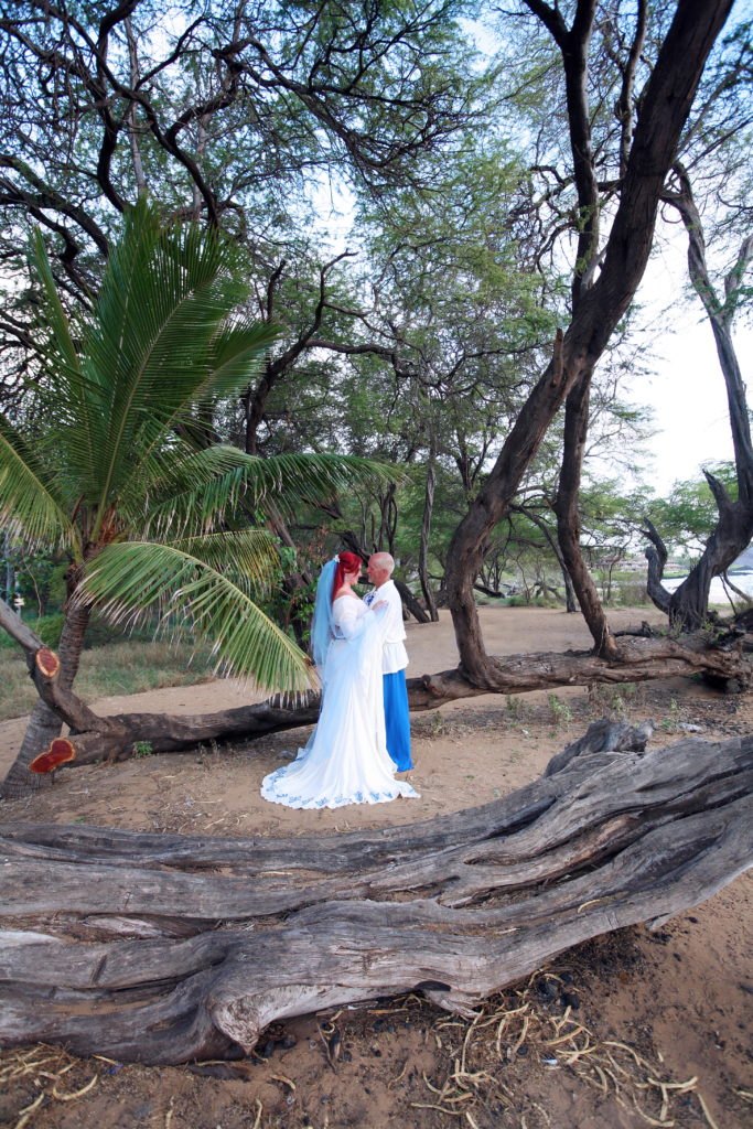Enjoying the beauty of the Hawaiian tropics and our love.