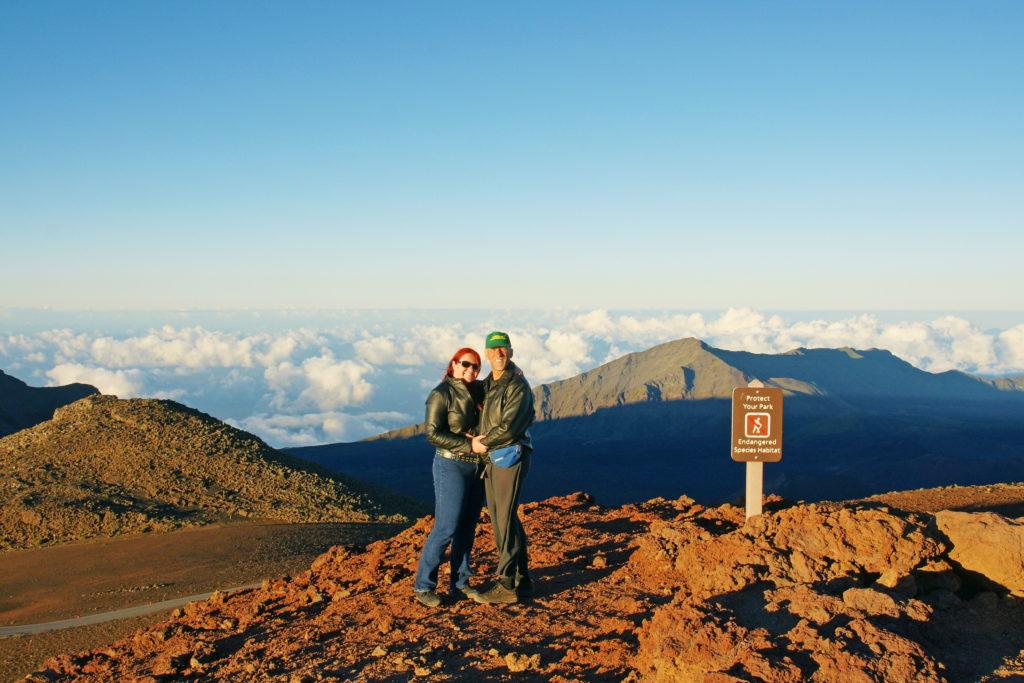 Atop Haleakalā just before sunset.