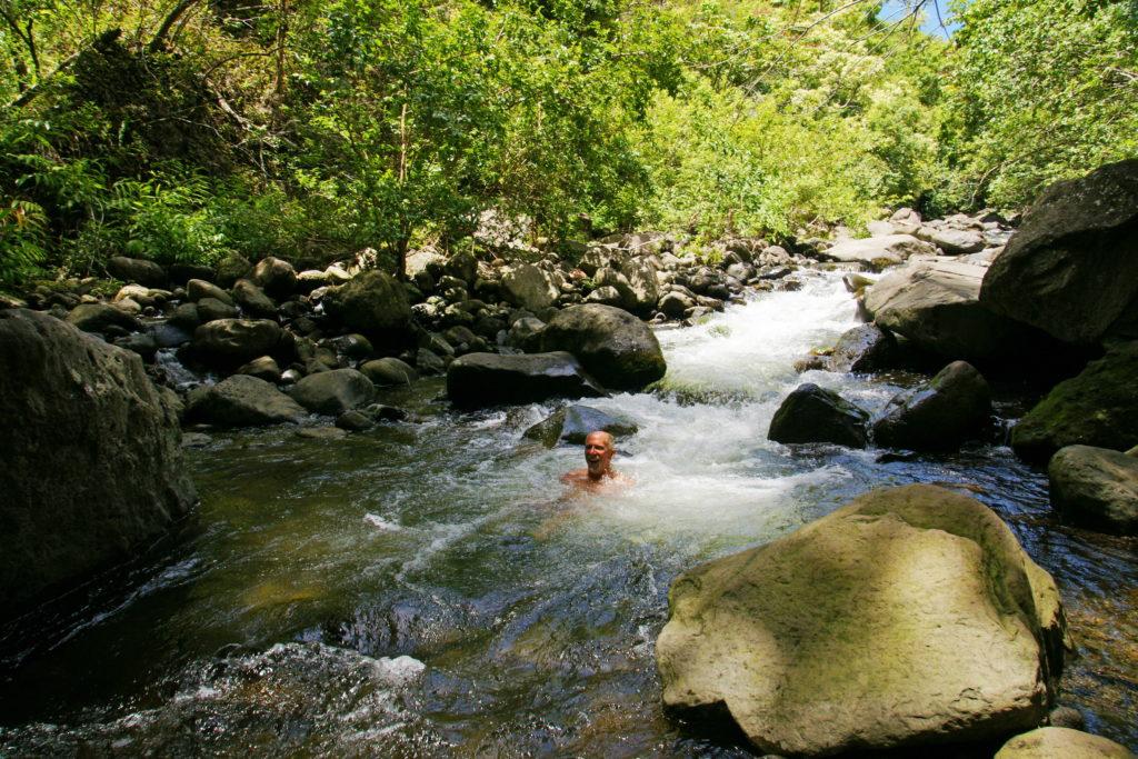 Refreshing on a warm Hawaiian day.