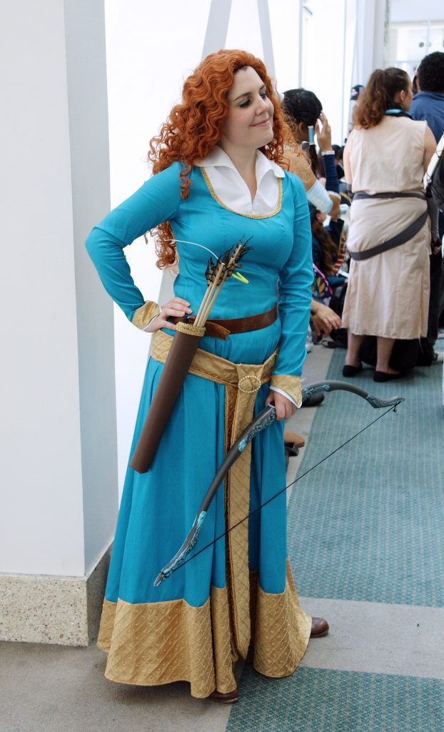 Princess Merida of DunBroch, looking very brave.