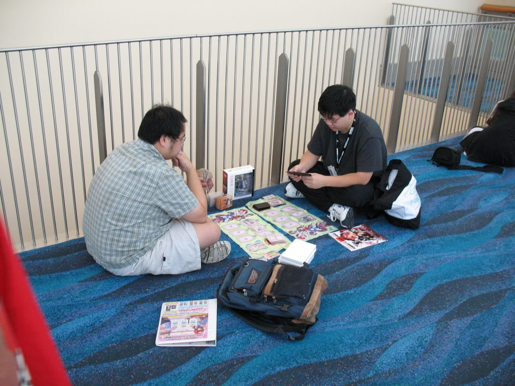 Note the player's concentration.