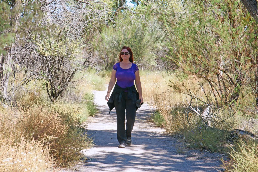 Hiking along the Rio Grande.