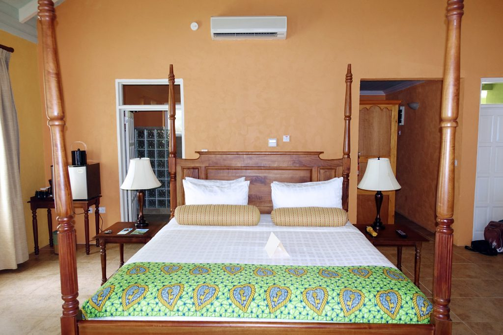 Our spacious accommodations at Rosalie Bay Resort.