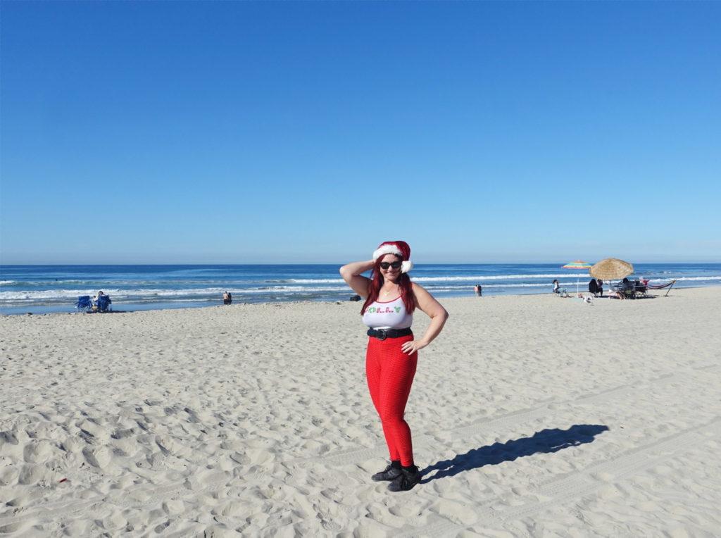 Life is a beach on Christmas.
