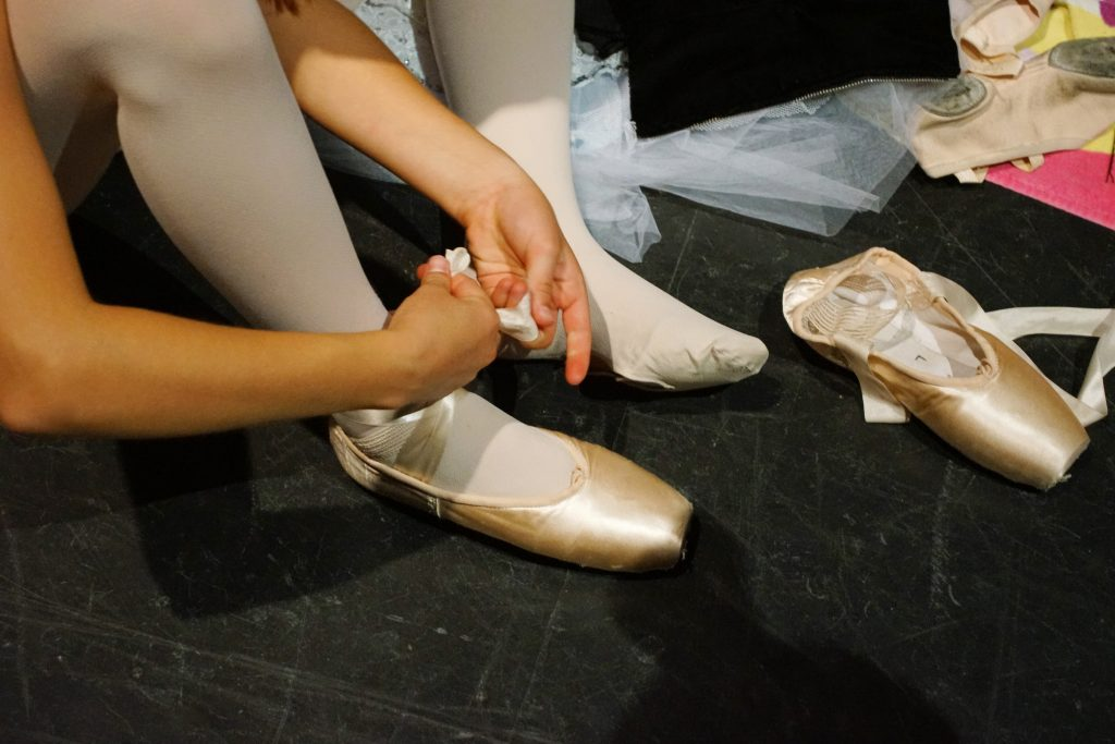 Correctly tying your pointe shoe is essential.