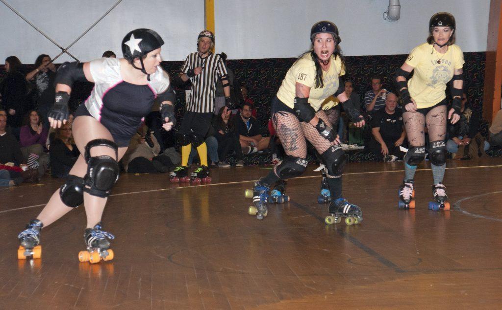 Roller skater SMASH!