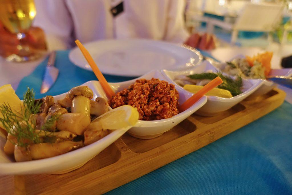 Seafood appetizers at Ayvalik Balikcisi. Yummy.