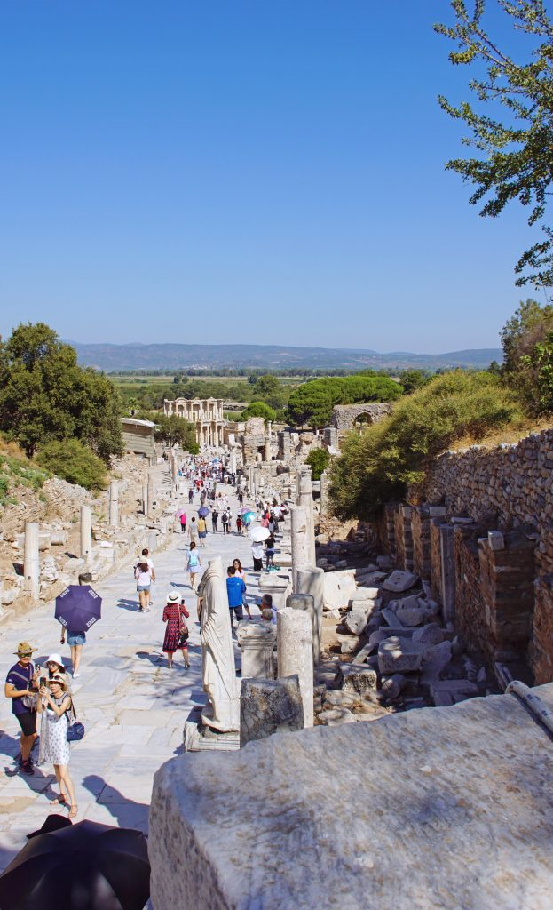 Curetes Street, probably far less crowded than in ancient times.