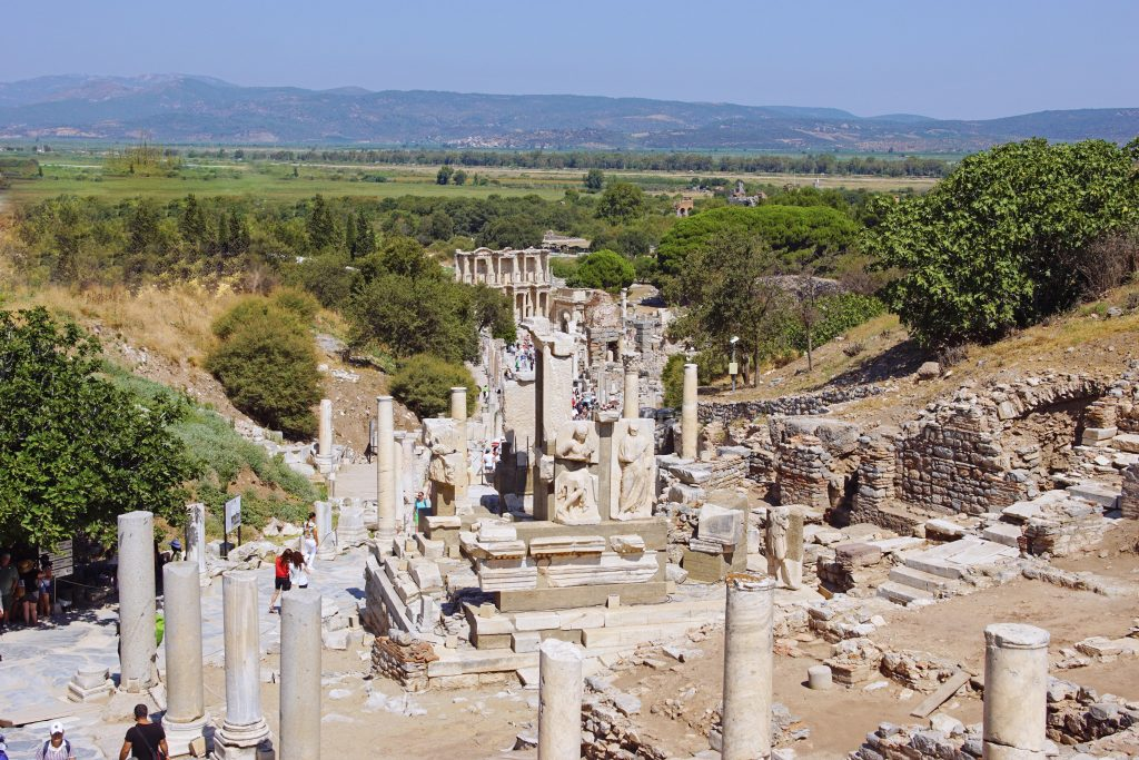 Curetes Street, looking south towards the Celsus Library.