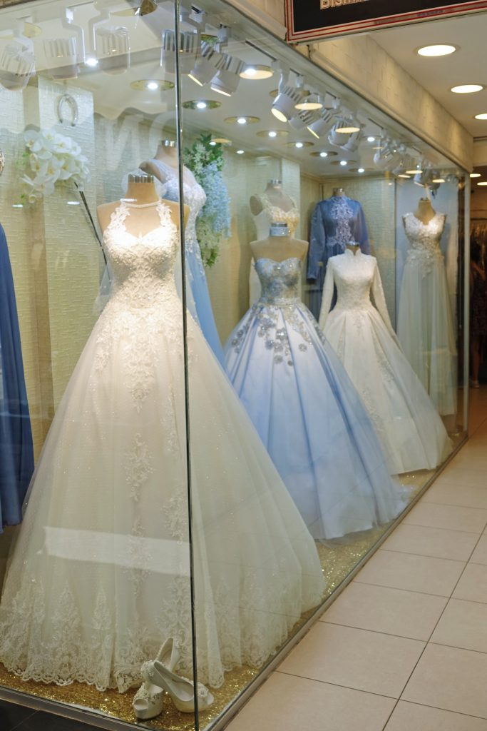 Wedding dresses for the headless women in your life.