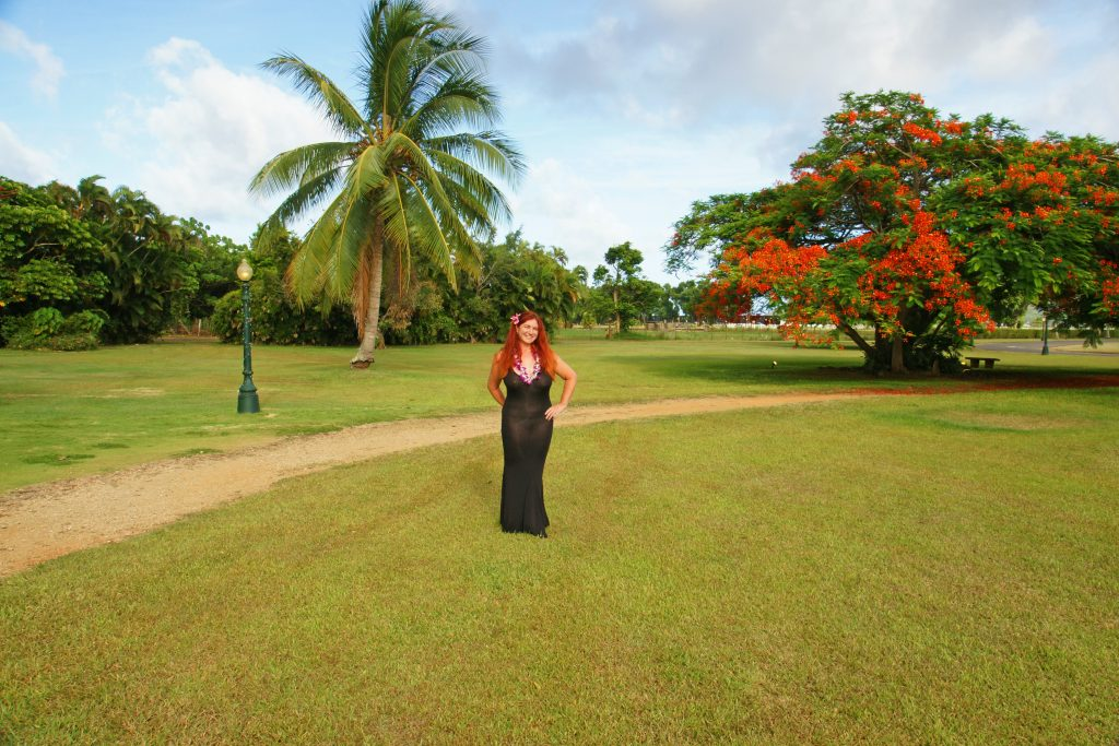The beautiful grounds of the Kilohana Plantation.