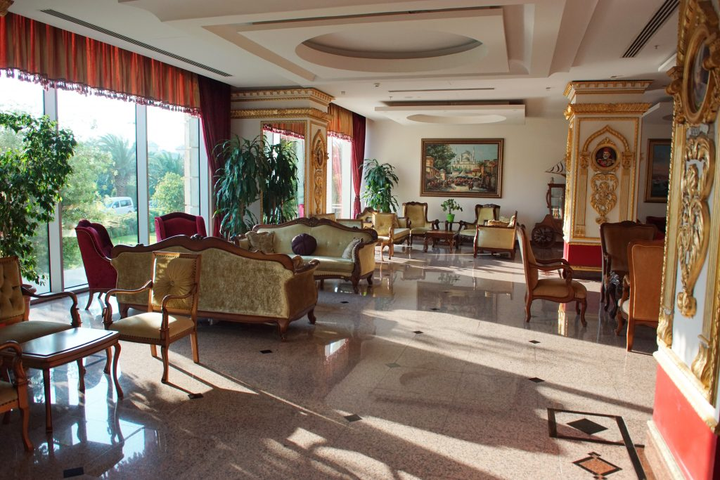 Some of the elegant sitting rooms at the hotel.