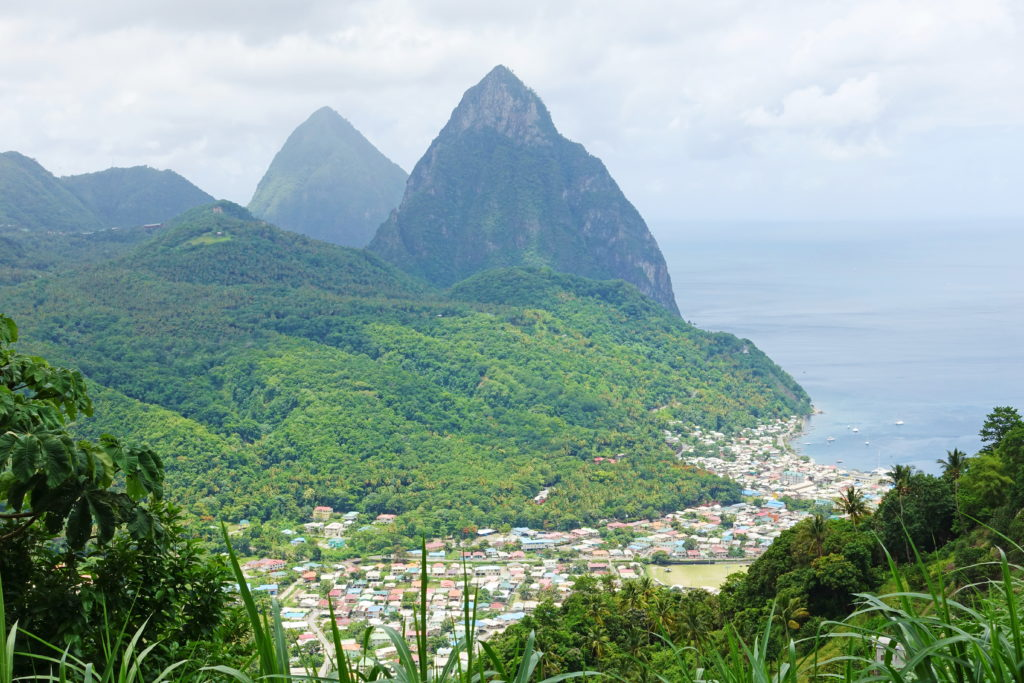 "Note: ""Piton"" is also the name of Saint Lucia's local beer.  Do not confuse it with these mountains."