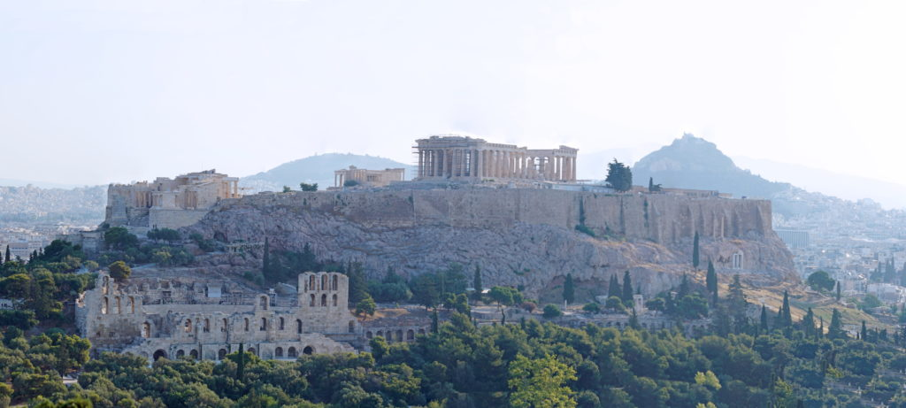The Acropolis as seen from the Hill of the Muses.