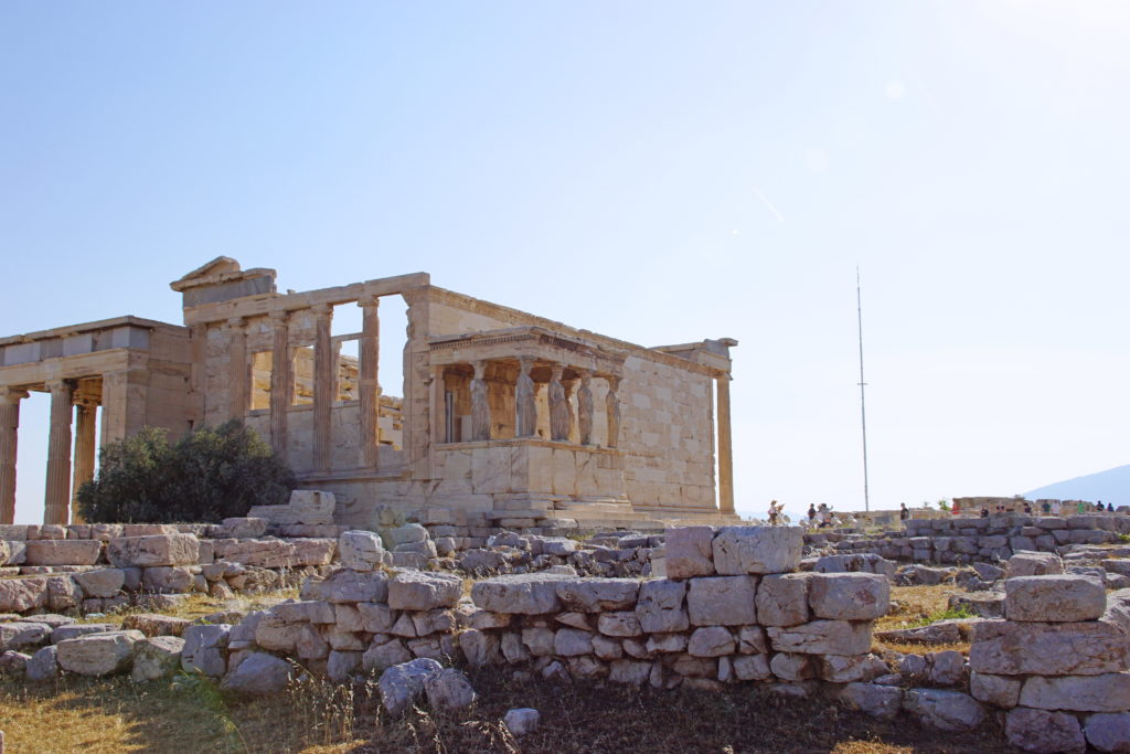 The Erechtheion, showing the Porch of the Caryatids.