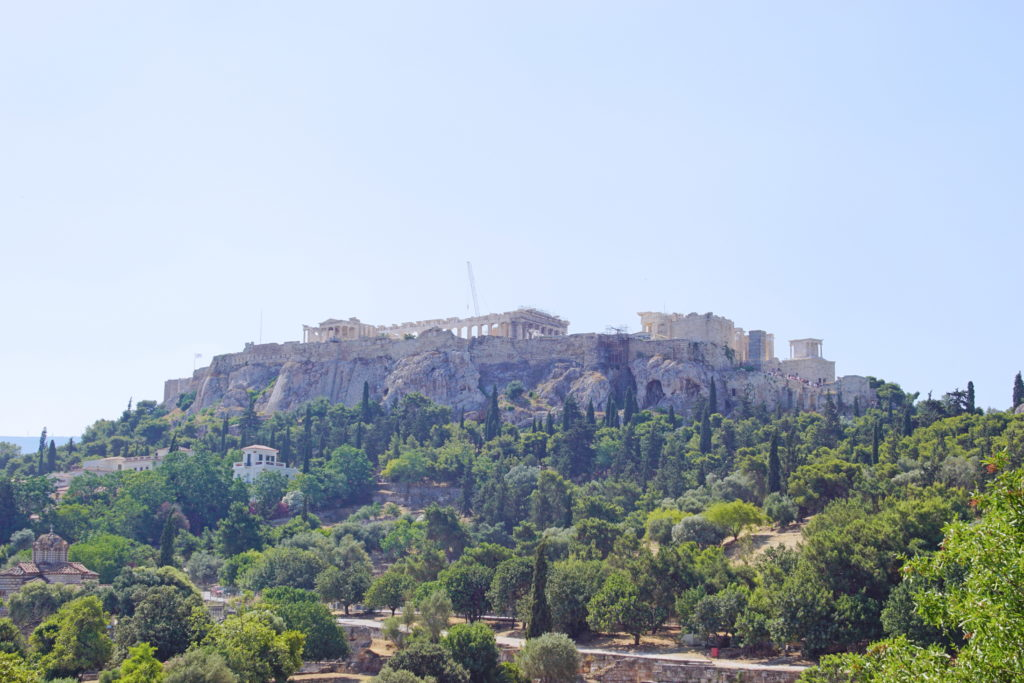 A view of the Acropolis from the east.