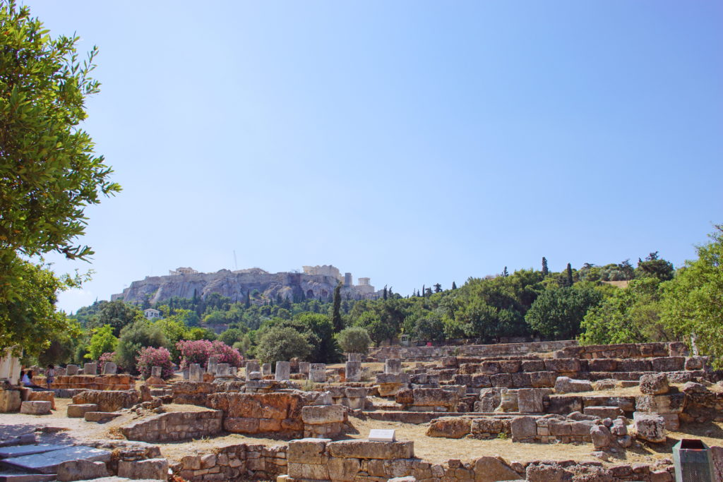 The Acropolis as seen from the Ancient Agora.