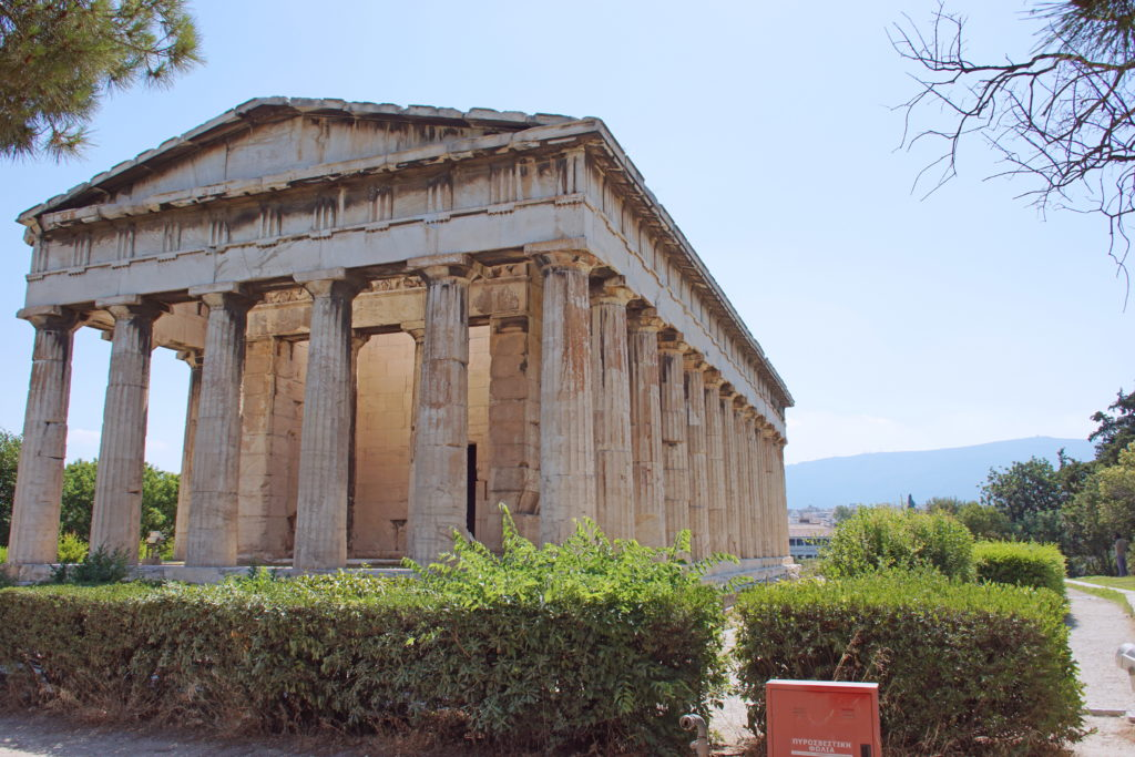 The Temple of Hephaestus is worn, but still inspiring.