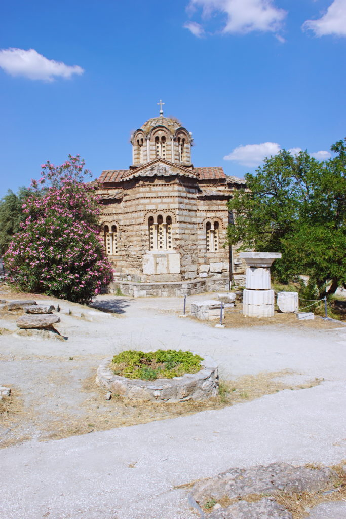 The Church of the Holy Apostles, built in non-ancient Greece.