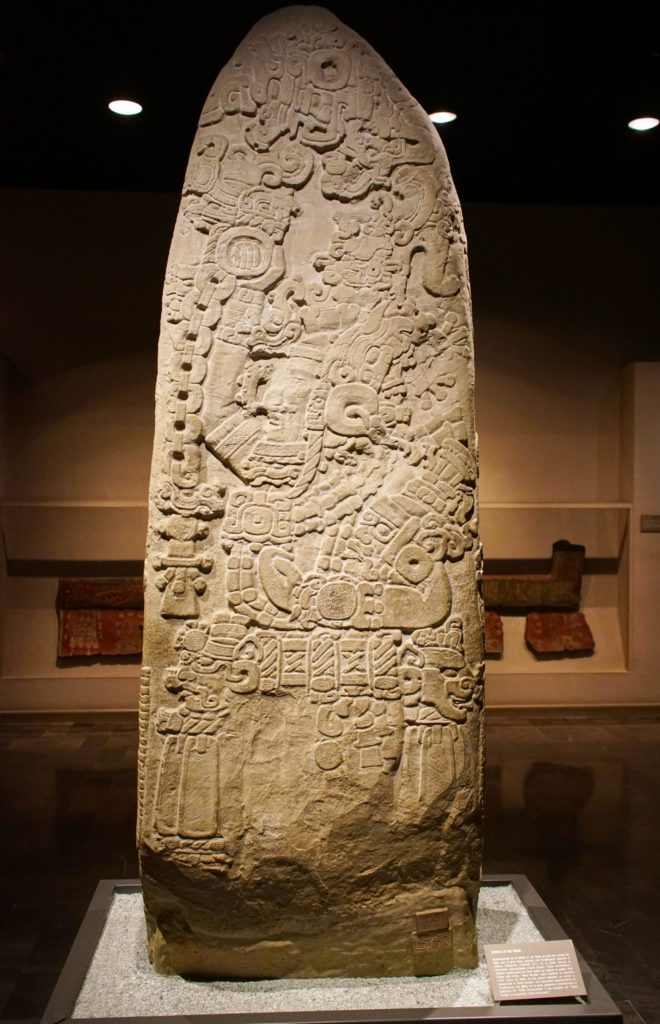 The famous Stela 31 of Tikal.