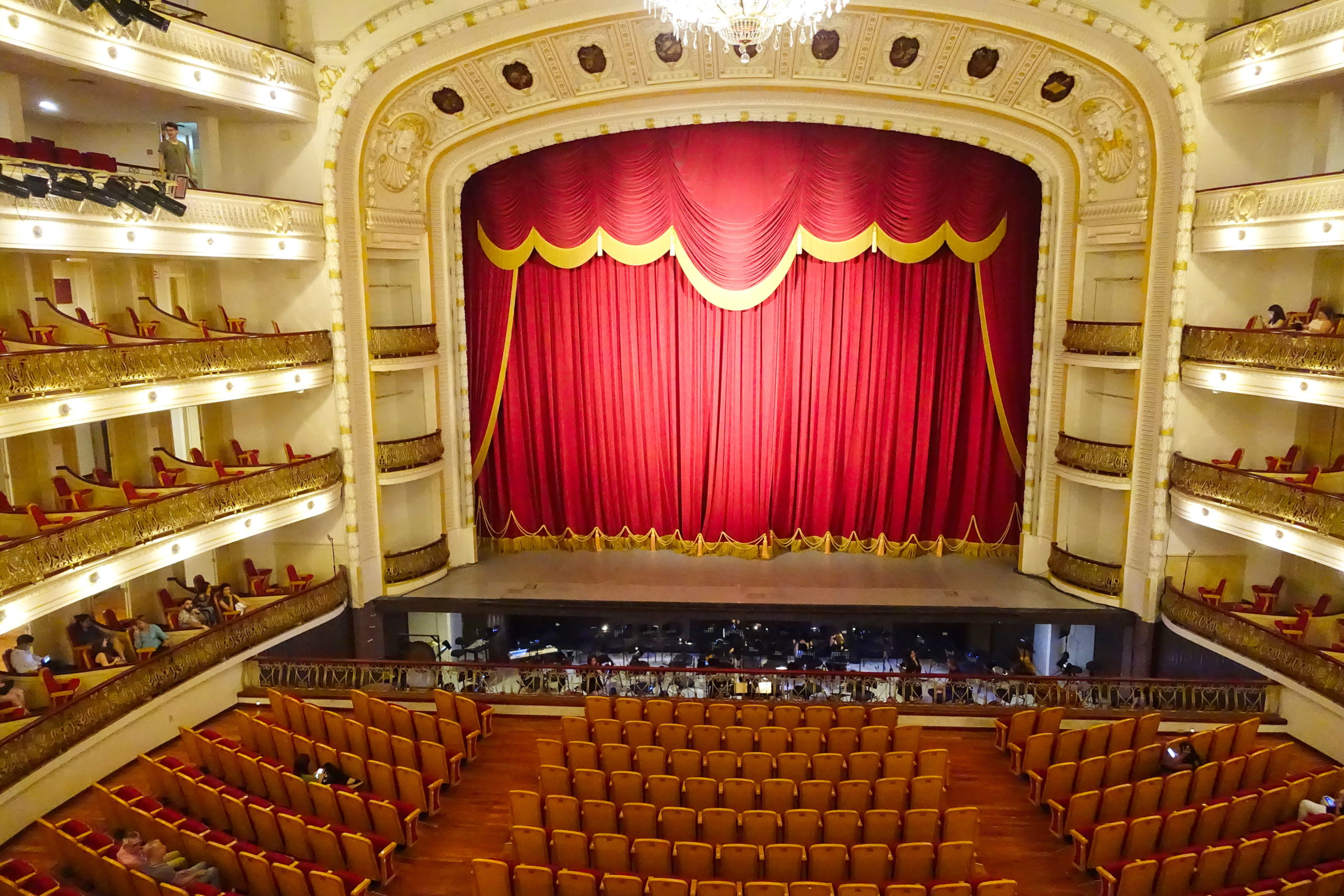 Gran Teatro de La Habana, soon to be filled with dancers, singers, musicians, and patrons of the arts.