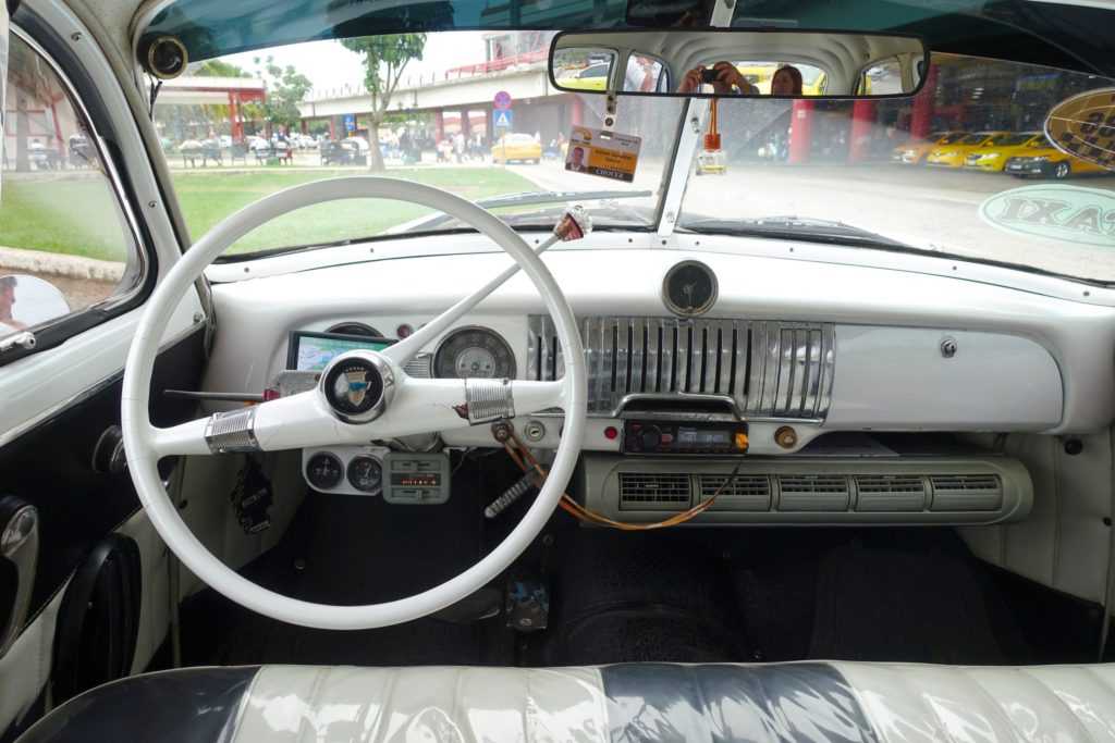 The interior of the car is almost completely original.