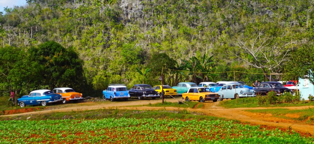 More colorful Cuban cars.