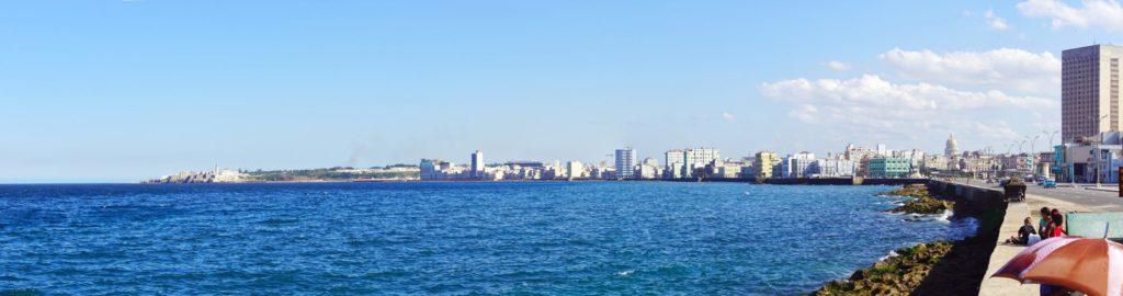 A panorama of the Avenida de Maceo, Havana's waterfront.