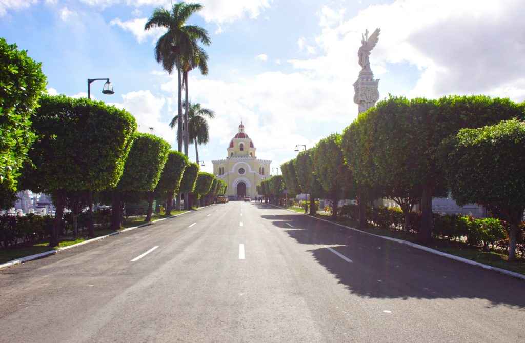 The Capilla Central, conveniently located in the center of the cemetery.