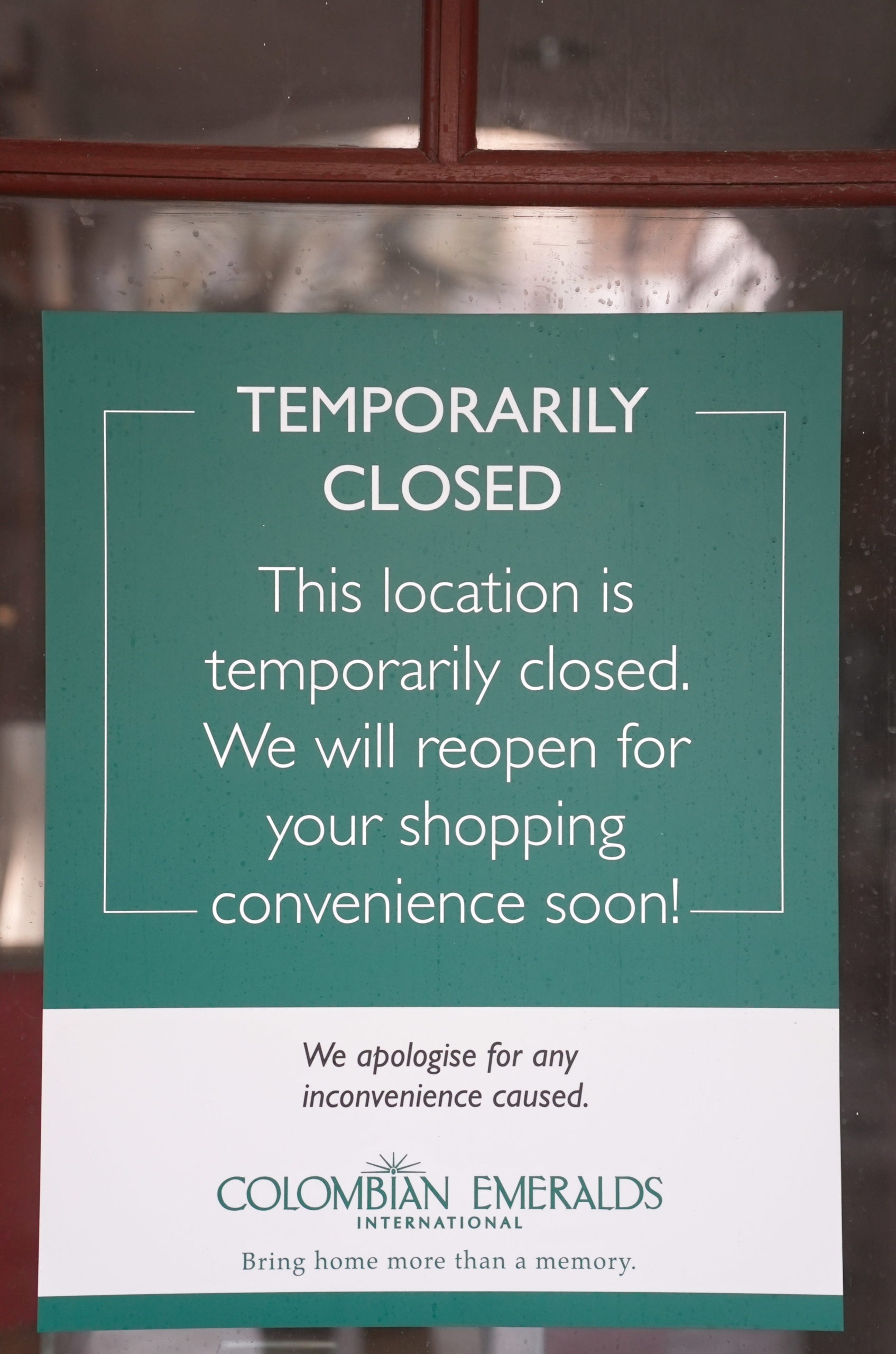 Welcome!  We are closed.
