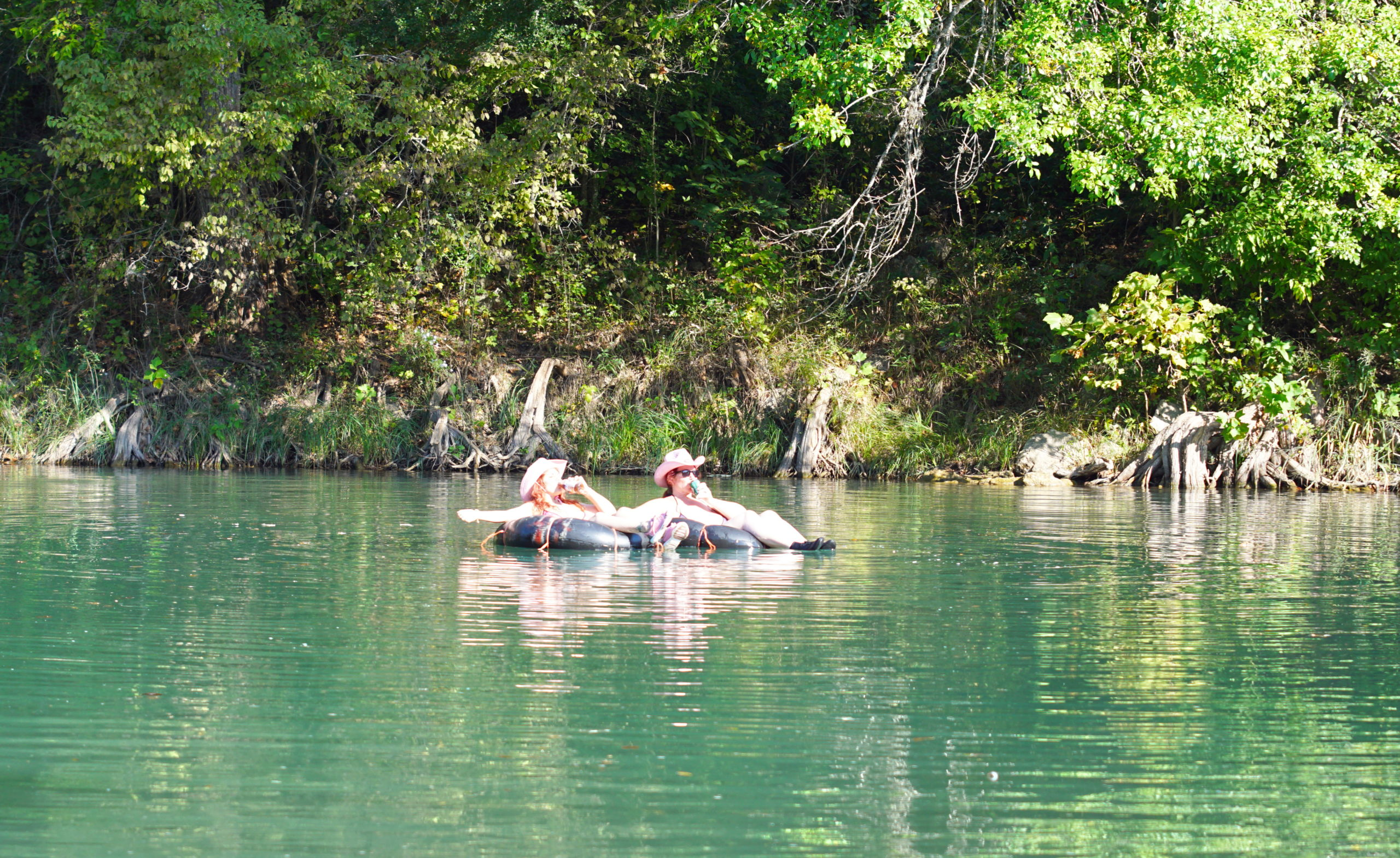 Tubing with friends on the mighty Guadalupe.