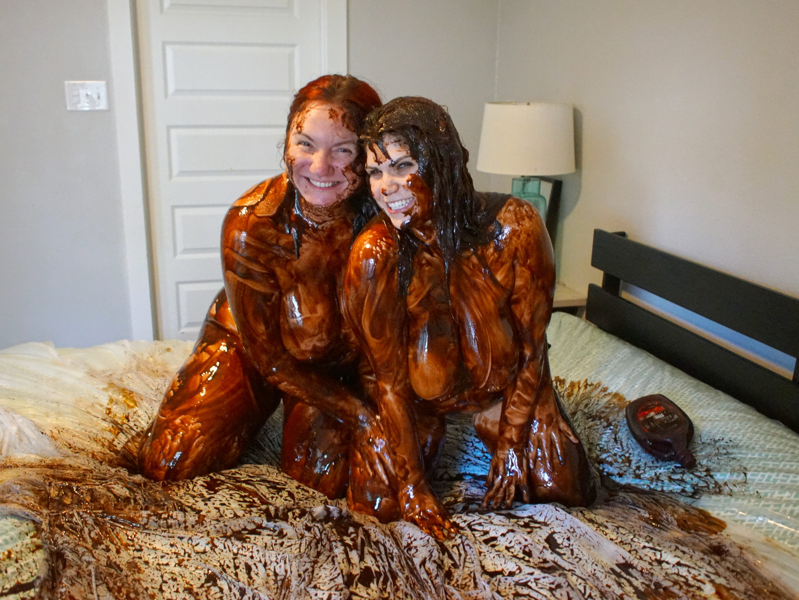 It's hard not to laugh, when... chocolate!
