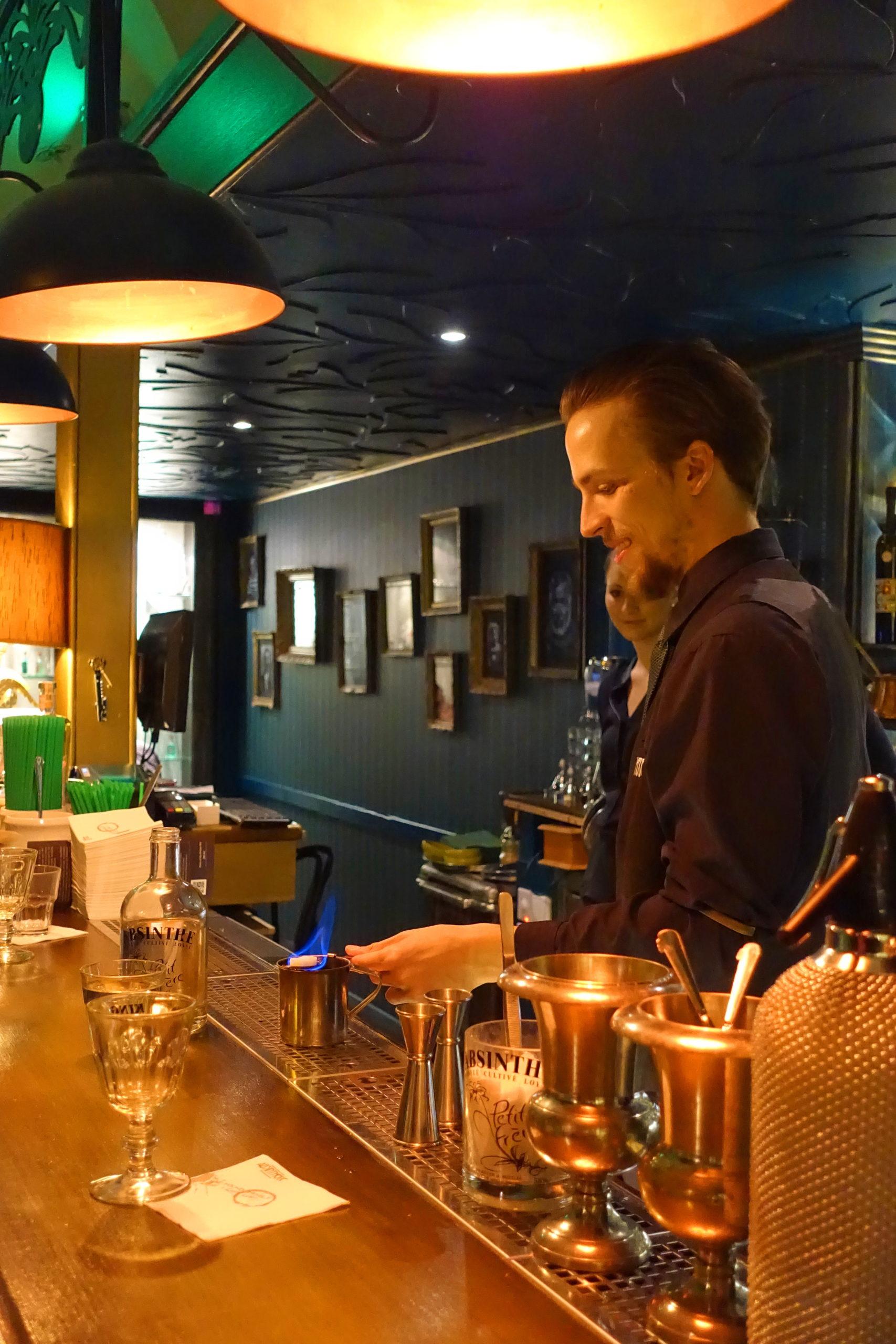Serving absinthe is a process.