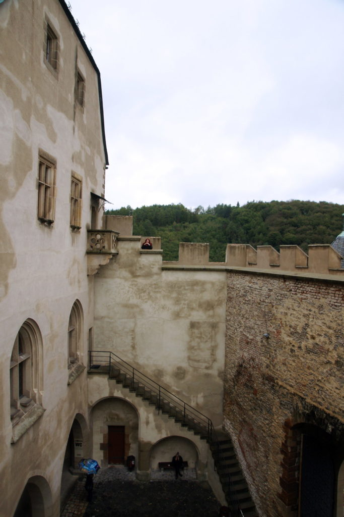 One of the castle's courtyards.