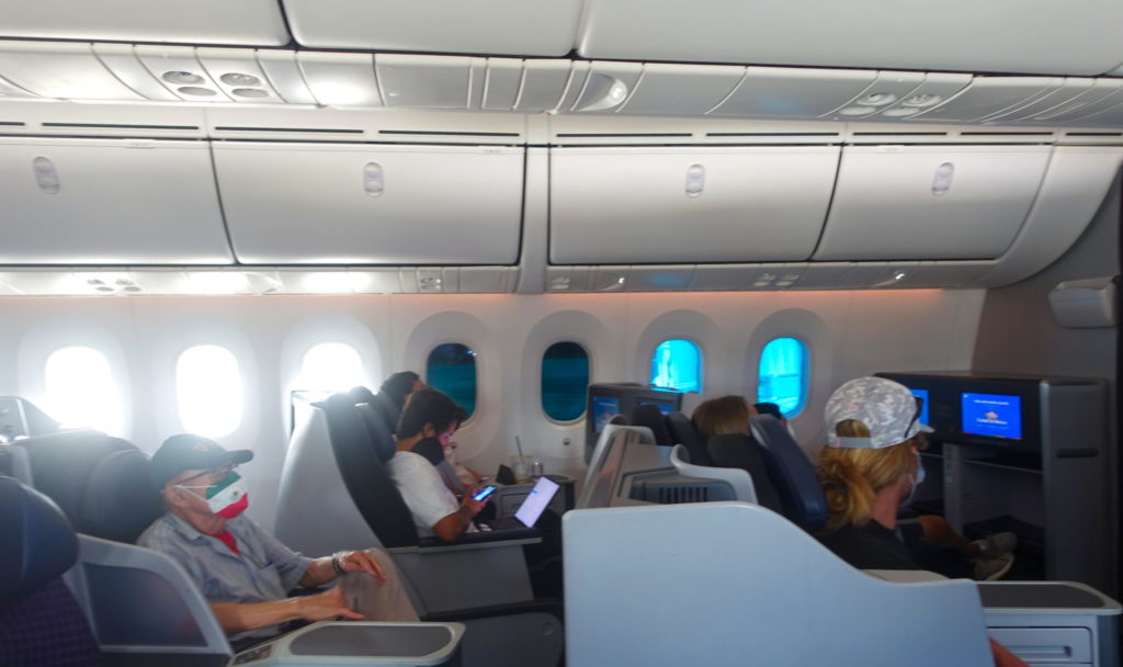 Another example of the Dreamliner windows.