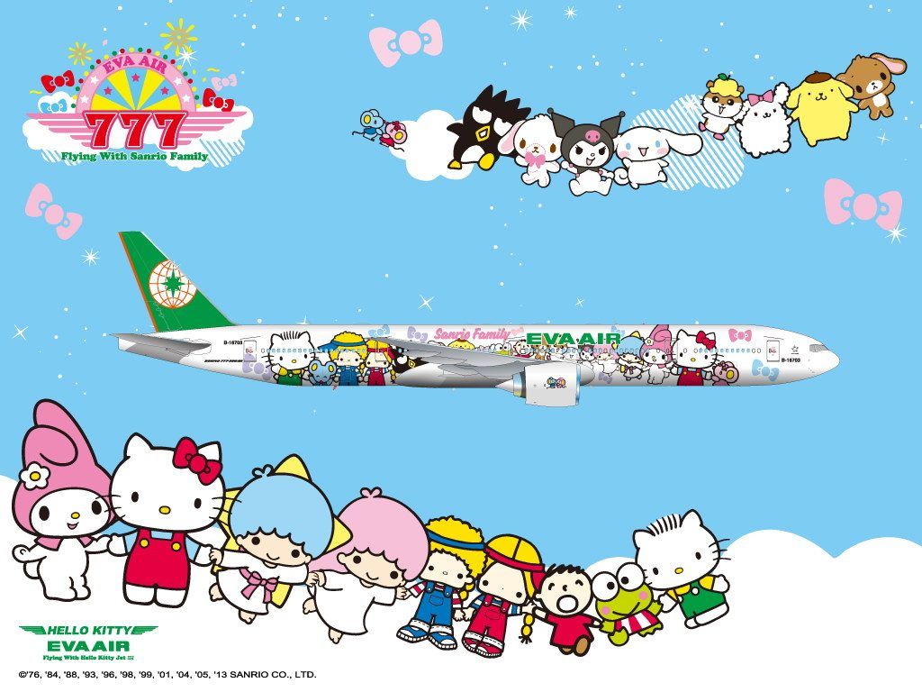 Eva Air Hello Kitty Plane.